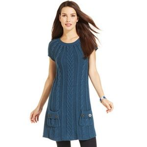 Style & Co Dresses - Cable Knit Tunic Sweater Dress